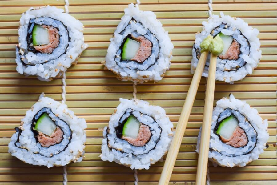 Inside-Out-Rolls Thunfisch