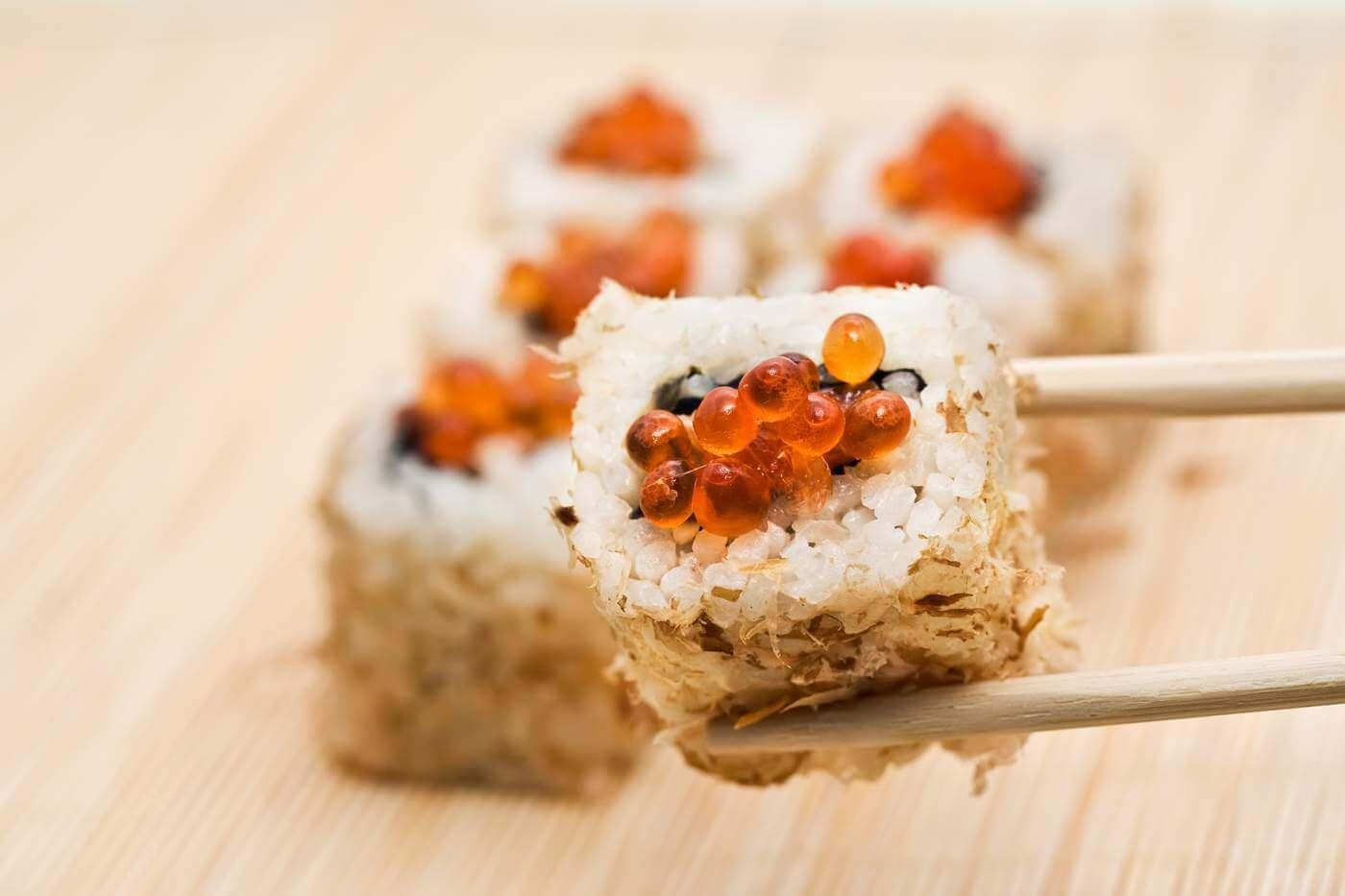 Sushi mit Rogen