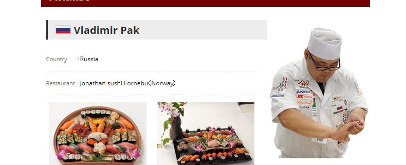 Der Sushi-Weltmeister 2017 kommt aus Norwegen