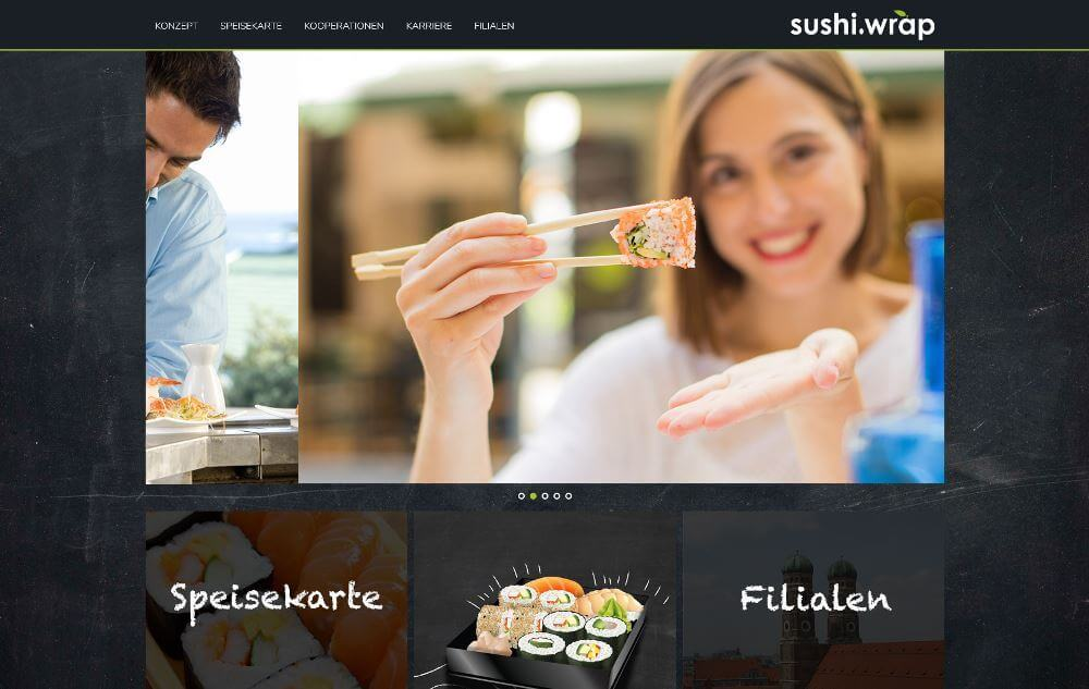 Eine neue Homepage für sushi-wrap.de - Sushi selber machen