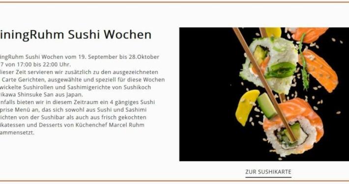Sushiwochen im DiningRuhm im Sep/Okt 2017