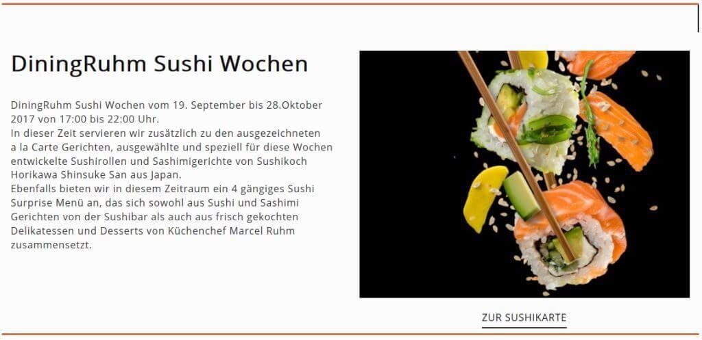 Wiener aufgepasst: Sushiwochen im DiningRuhm 1