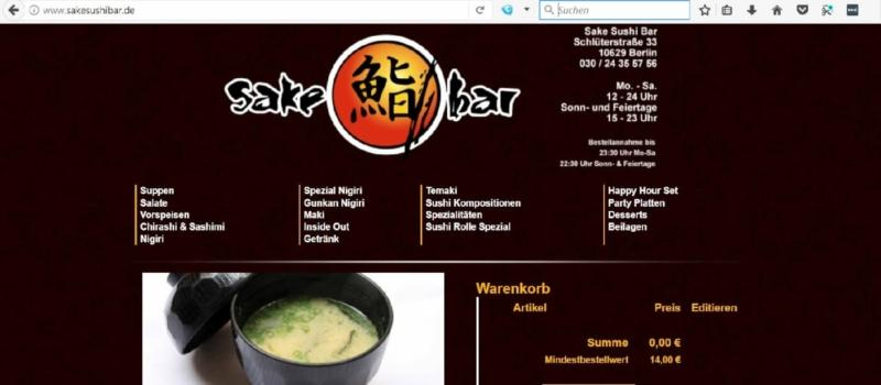 Sake Sushi Bar in Berlin