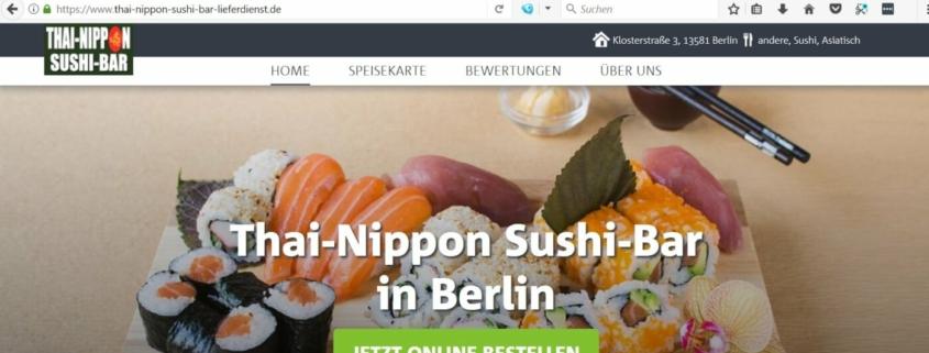 Thai-Nippon Sushi Bar in den Spandau Arcaden - Sushi selber machen