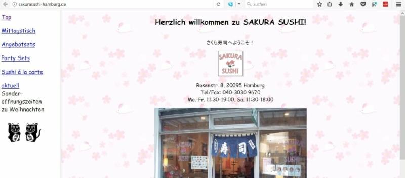 Das Sakura Sushi mit den Party Sets