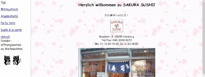 Sakura Sushi Restaurant in Hamburg