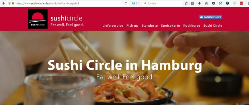 In den Hamburger Colonnaden ist auch Sushi Circle