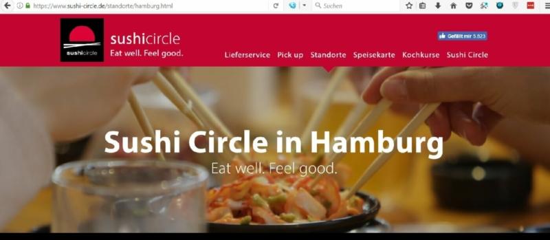 Sushi Circle auch in der Mönckebergstraße