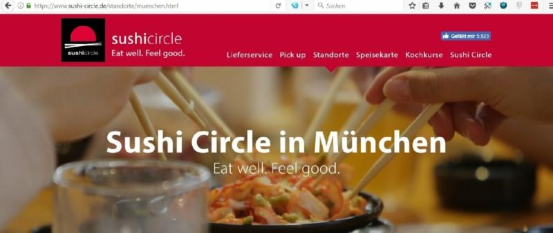 Sushi Circle in der Münchner Leopoldstraße