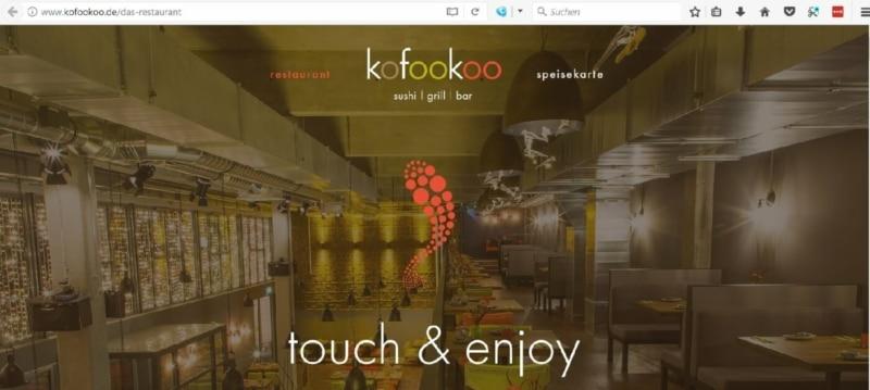 Japanisches iPad-Restaurant Kofookoo