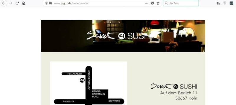 Sweet Sushi in der Kölner Innenstadt