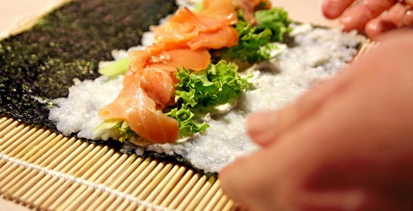 Bambusmatte Sushi