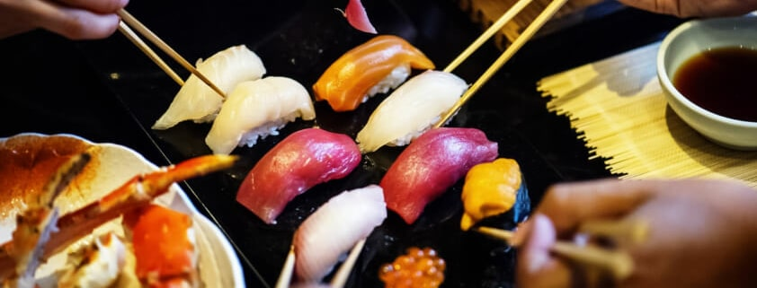 Was wird gern zum Sushi dazu getrunken?